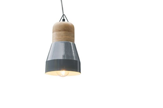Newark grey hanging lamp Clipped