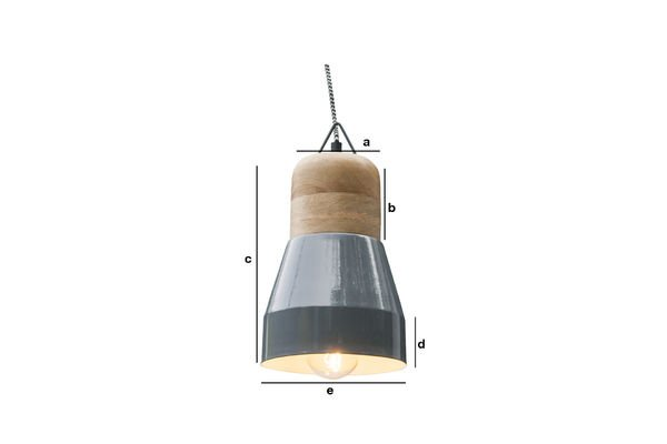 Product Dimensions Newark grey hanging lamp