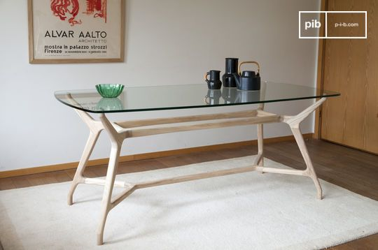 Nixon glass dining table