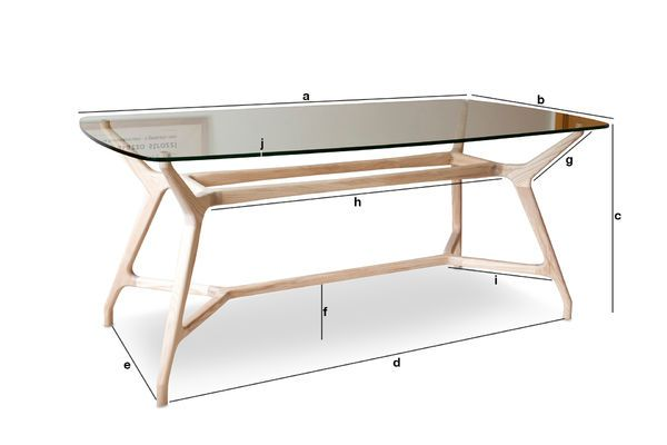 Product Dimensions Nixon glass dining table
