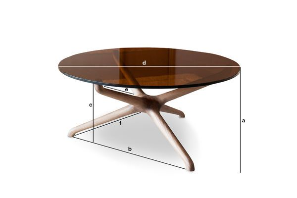 Product Dimensions Nodern glass coffee table
