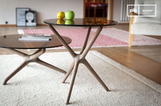 Nodern glass sofa side table