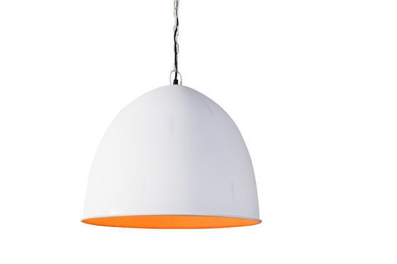 Nölia White Pendant Light Clipped