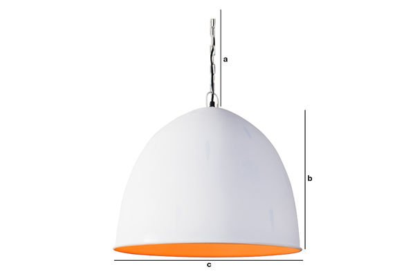 Product Dimensions Nölia White Pendant Light