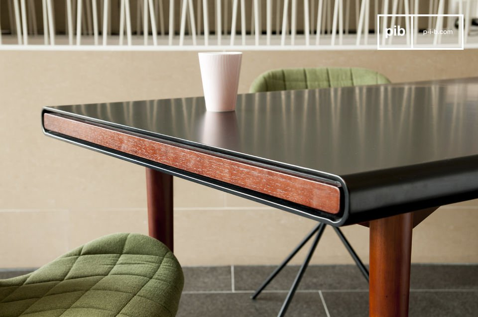 The elegance of a beautiful table with Nordic retro design