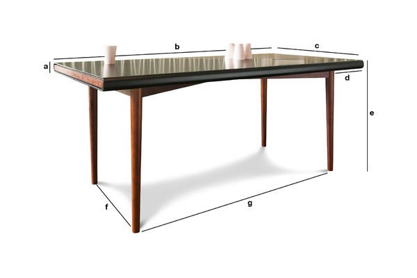 Product Dimensions Nordby table