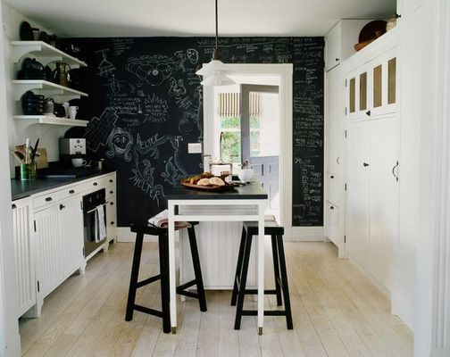 nordic black and white kitchen