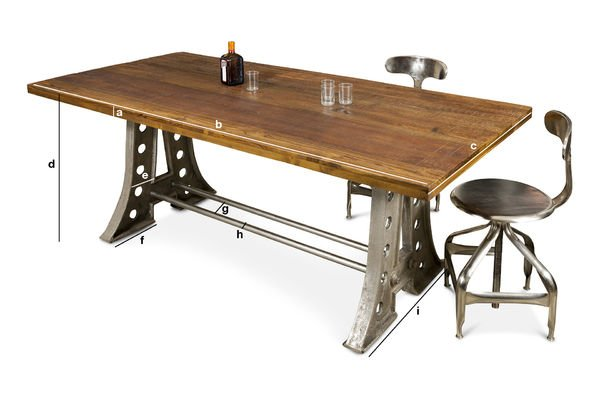 Product Dimensions Normandy dining table