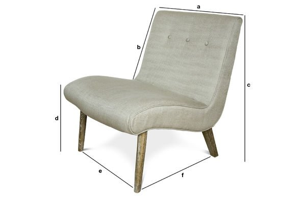 Product Dimensions Northern Vintage armchair