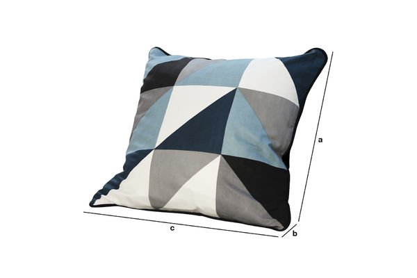 Product Dimensions Norway blue cushion