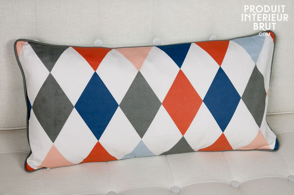 Norway Harlequin cushion