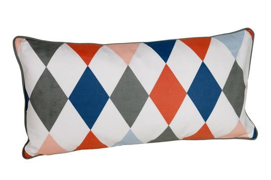 Norway Harlequin cushion Clipped