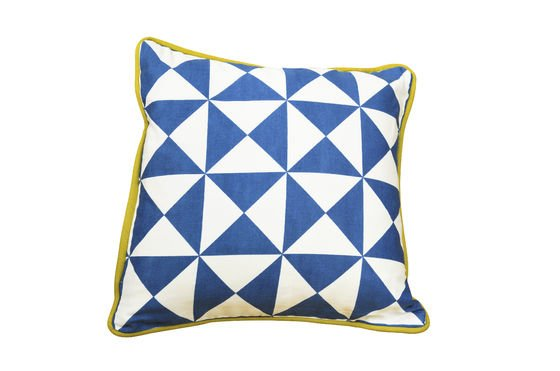 Norway small blue cushion Clipped