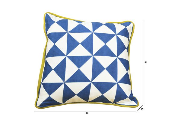 Product Dimensions Norway small blue cushion