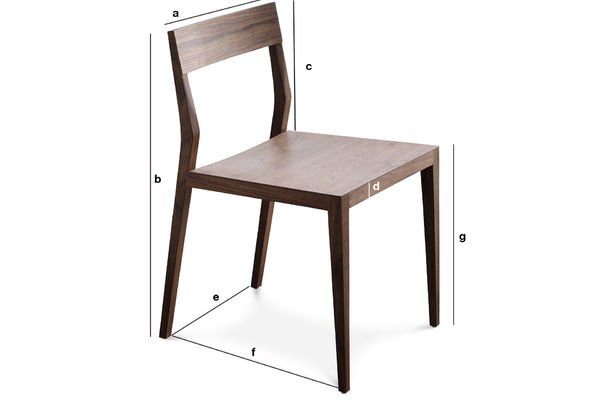 Product Dimensions Nöten walnut chair
