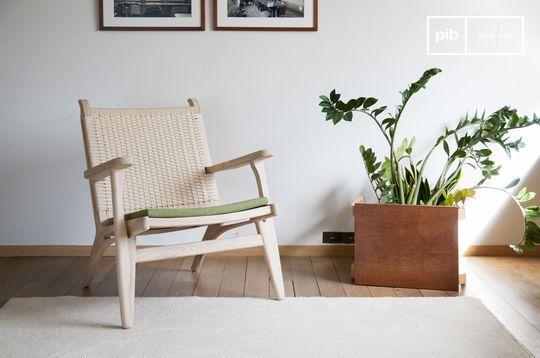 Oak armchair Satow
