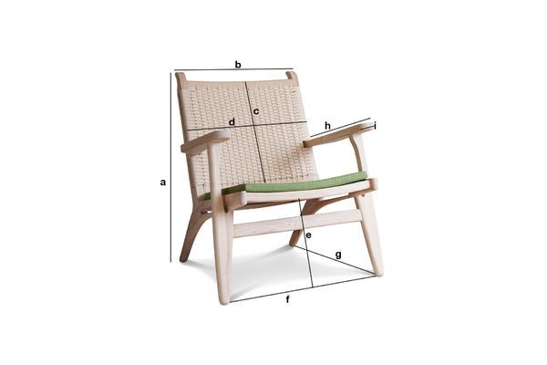 Product Dimensions Oak armchair Satow