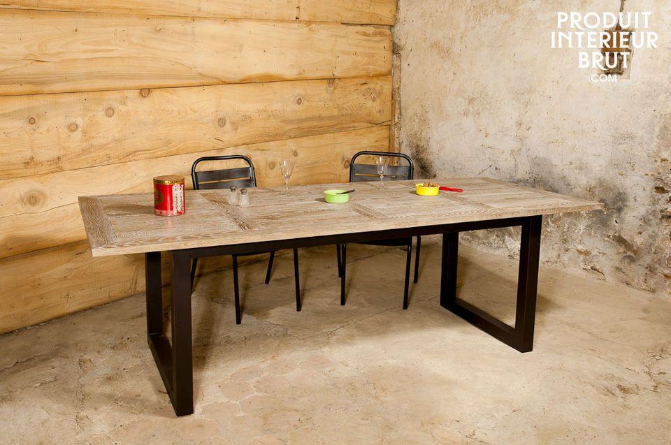 Oak table Cluny
