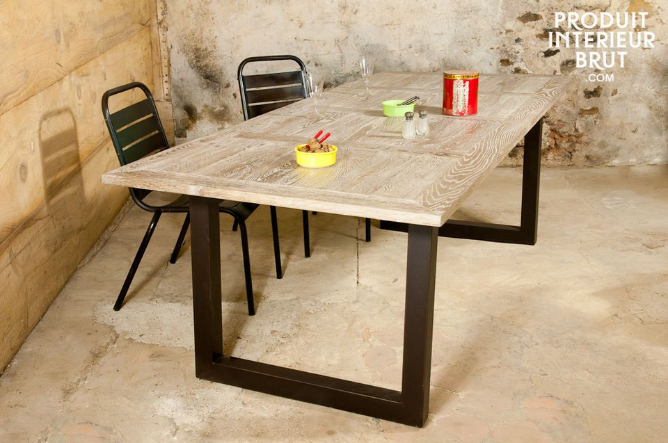 A large dining table designed with whole oak, considerable piece of furniture for your dining room