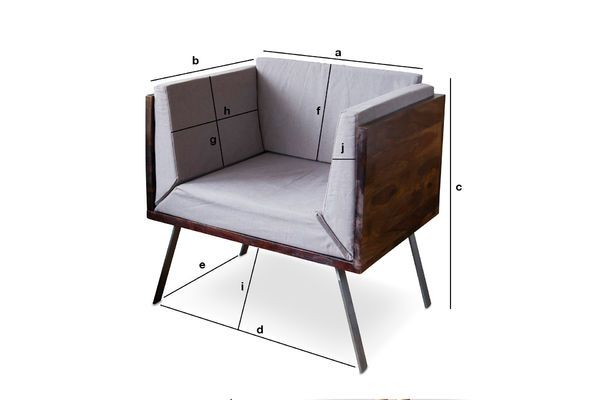 Product Dimensions Odeon Lounge armchair