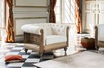 Old collection of antique style armchairs, sofas and chairs