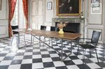 Old collection of dining tables