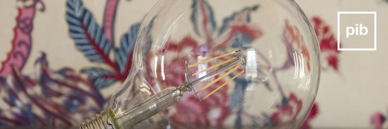 Old collection of industrial filament bulbs