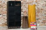 Old collection of industrial metal storage cabinets