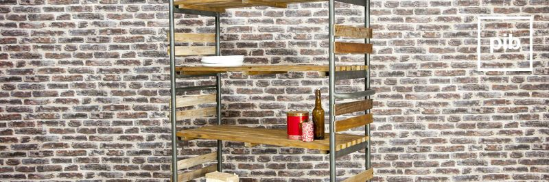 Old collection of industrial shelves