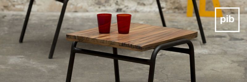 Old collection of industrial side tables