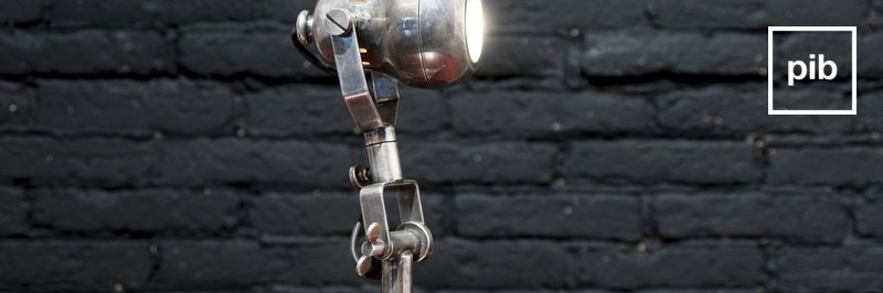 Old collection of industrial table lamps