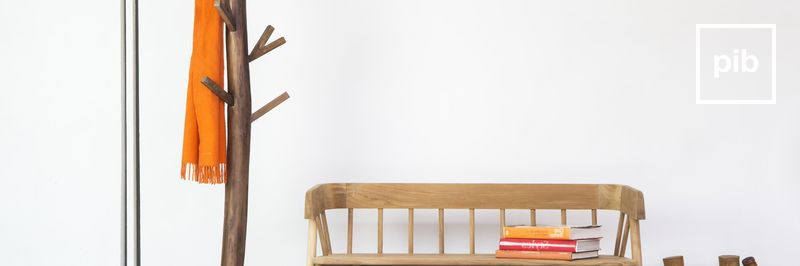 Old collection of modern scandinavian coat stands