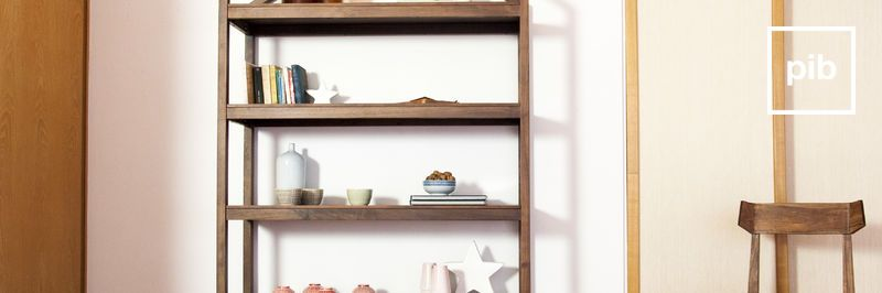 Old collection of scandinavian shelves