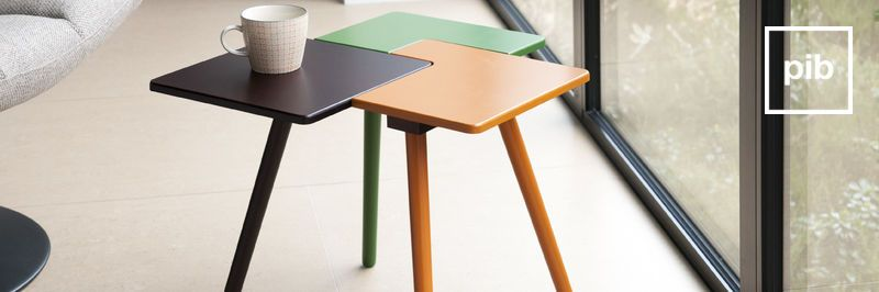 Old collection of scandinavian side tables
