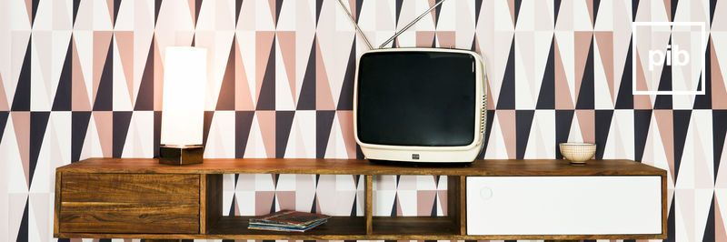 Old collection of scandinavian tv units
