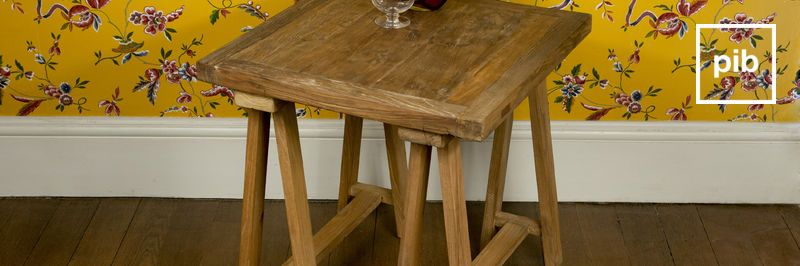 Old collection of shabby chic side tables