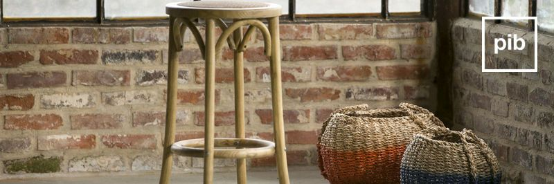Old collection of wooden shabby chic stools