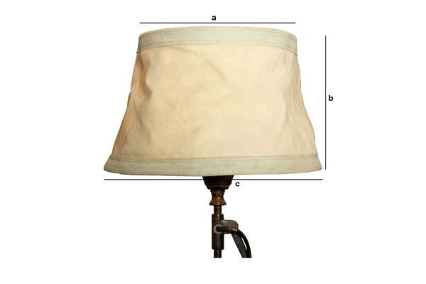 Product Dimensions Oléron beige lampshade 25 cm