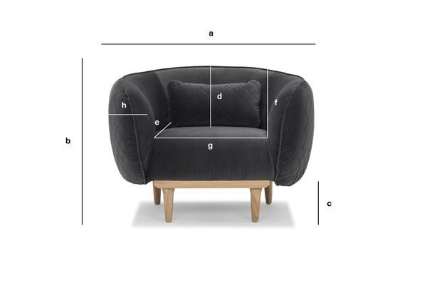 Product Dimensions Olson Curved Armchair
