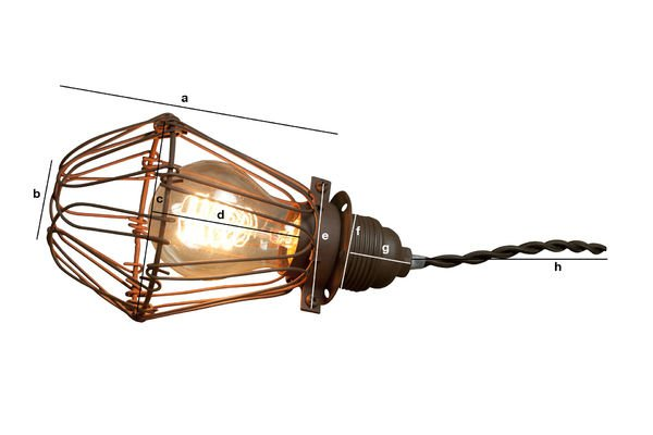 Product Dimensions Olympia hand lamp