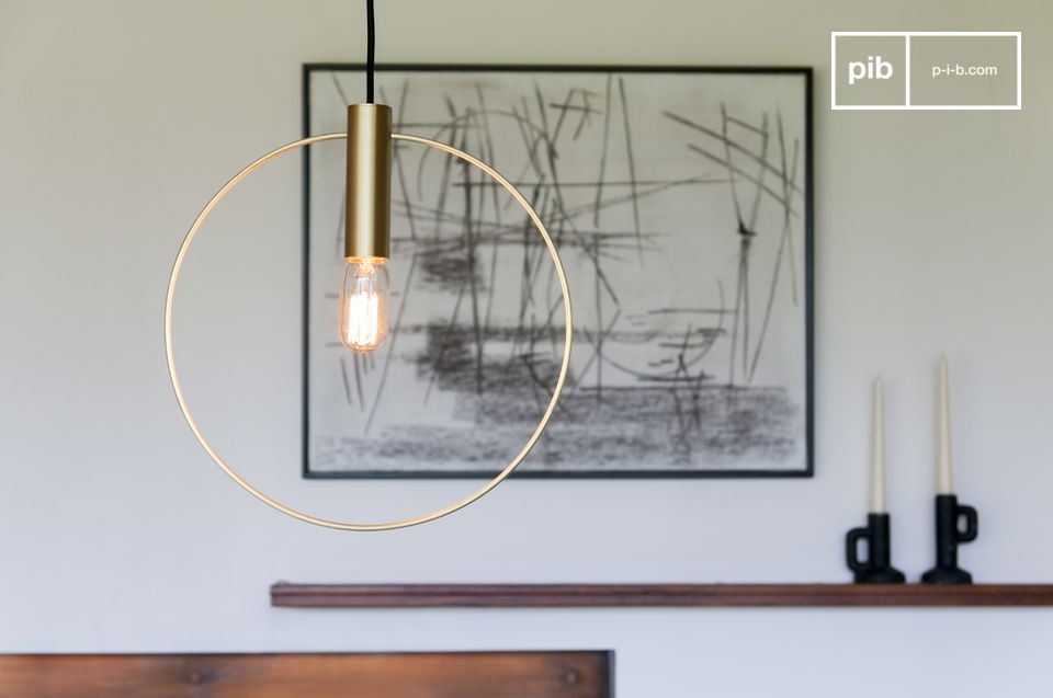 Oohalt gold suspension lamp