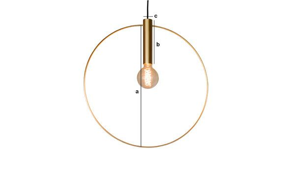 Product Dimensions Oohalt gold suspension lamp