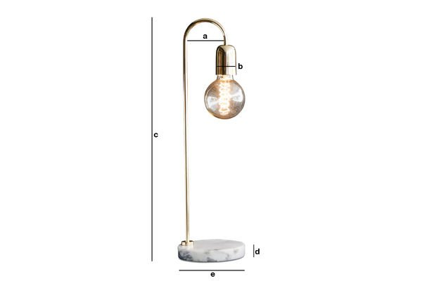 Product Dimensions Ora table lamp