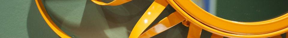Material Details Orange Aurinko Mirror