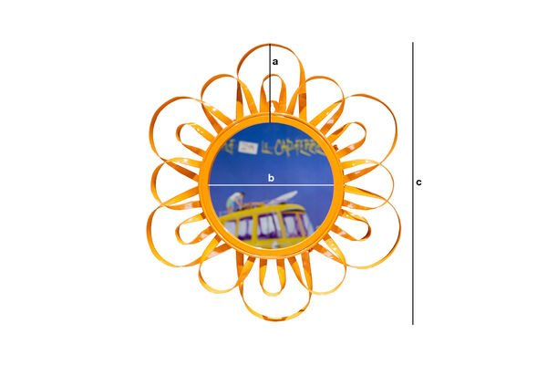 Product Dimensions Orange Aurinko Mirror