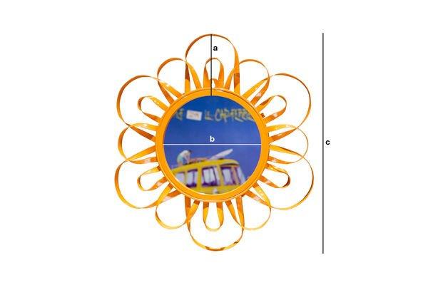 Product Dimensions Orange Aurinko Mirror