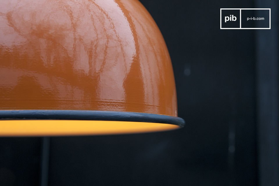 The beautiful orange finish on the suspension SNÖL will make your ceiling shine and bring a warm