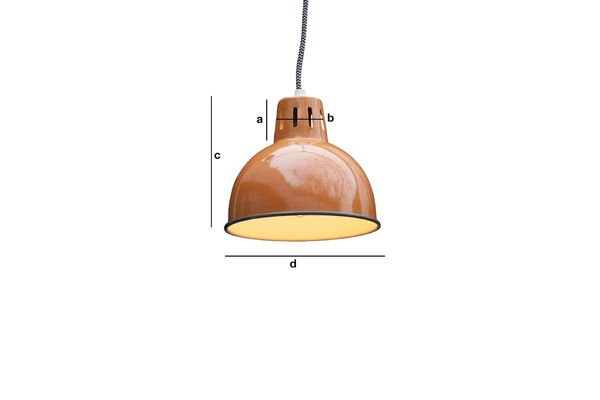 Product Dimensions Orange SNÖL Suspension Light