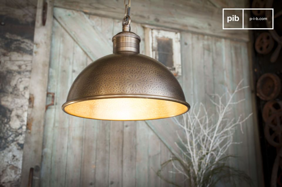Orient Express engraved metal pendant lamp