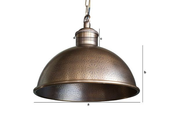 Product Dimensions Orient Express engraved metal pendant lamp